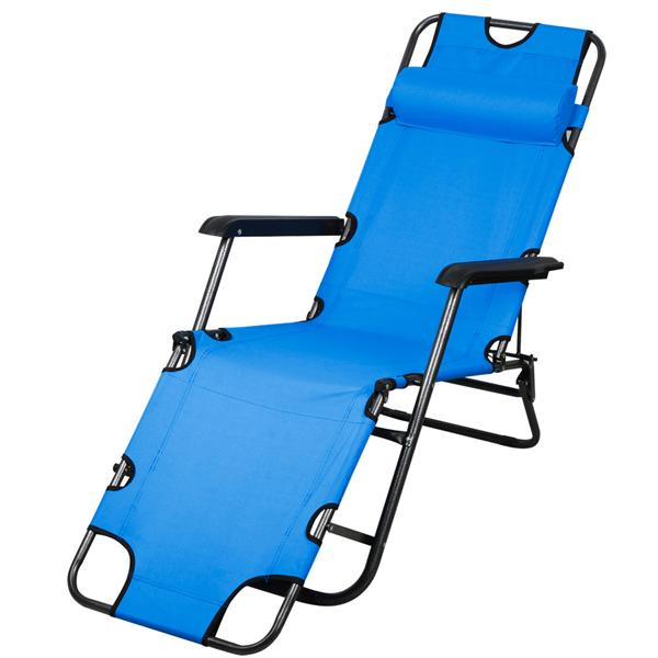 New chaise lounge patio chair outdoor yard beach metal - Folding outdoor chaise lounge ...